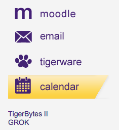 myLSU Portal icons with calendar highlighted at the left hand side