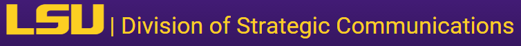 LSU Division of Strategic Communications logo